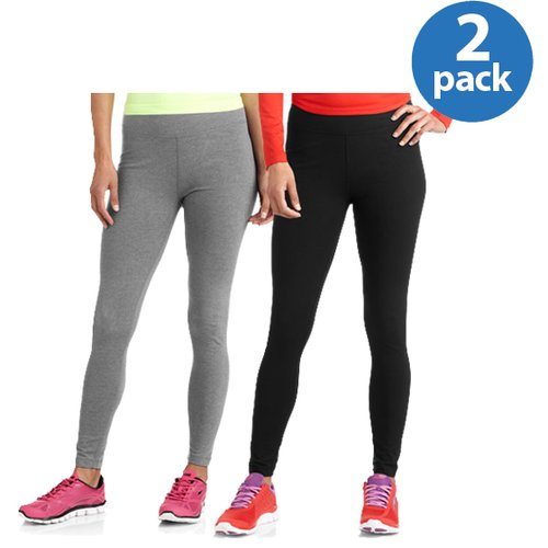 Danskin Now Women;s Dri-More Core Leggings, 2-Pack Value Bundle