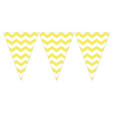 Party Creations Chevron Flag Banner, Mimosa, 1 Ct](Party Flag Banner)