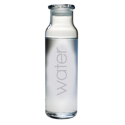 Water-etched Glass Water Bottle