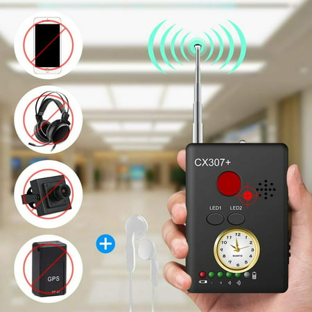 Hidden Camera Finder - FeelGlad  Rechargeable Security Camera RF Signal Detector, Handheld  Wireless  Camera GPS Tracker, Higher Sensitivity Multi-Functional Laser Lens GSM Device Finder with  Earphone
