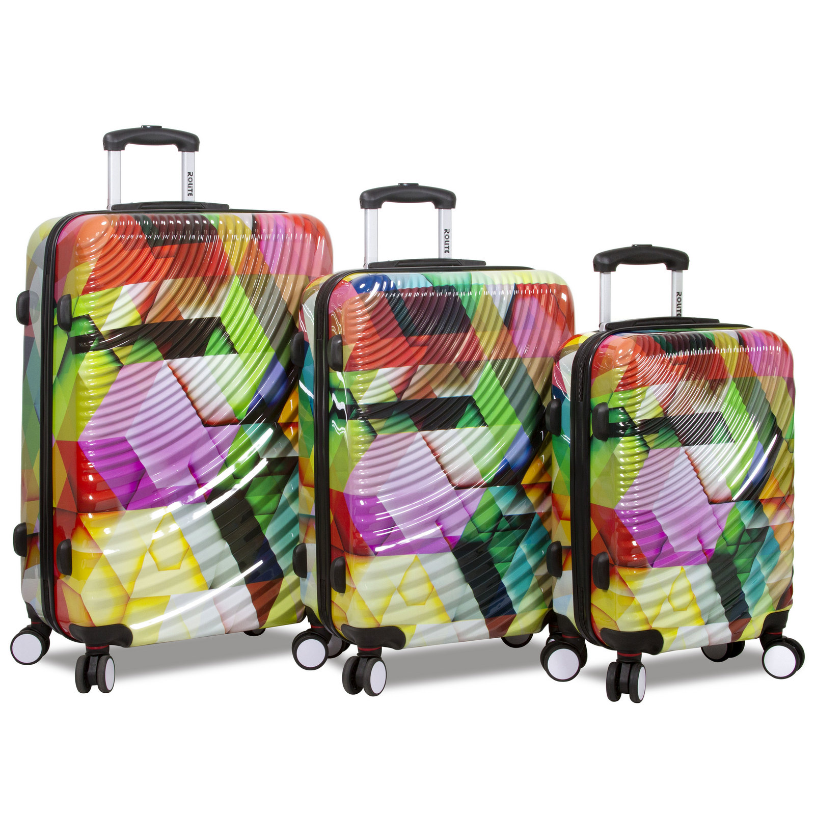 Rolite Ripple 3-Piece Lightweight Spinner Luggage Set