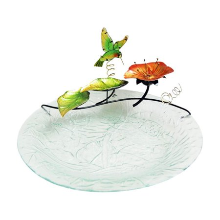 Continental Art Center Hummingbird Birdbath Fountain Topper with Plug-in - Art Deco Fountain