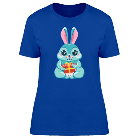 Bunny Vest (Cute Bunny With A Gift Cartoon Tee Women's -Image by)