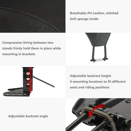 - Adjustable Foldable Driver Rider Backrest Pad + Mounting Kit For Harley Touring FLHT FLHR FLHX Street Electra Glide 2009-2017