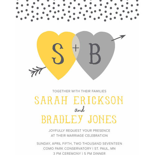 Heart and Arrow Standard Wedding Invitation