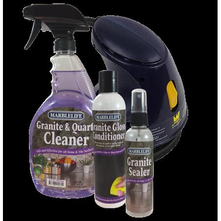 MARBLELIFE Granite Countertop Kit With Buffer (GQC 41110, GSL 41140, GGC 41130, BUF 53285, TAN - Kit Gunite