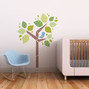 Trendy Peas Tree with Birdie Wall Decal