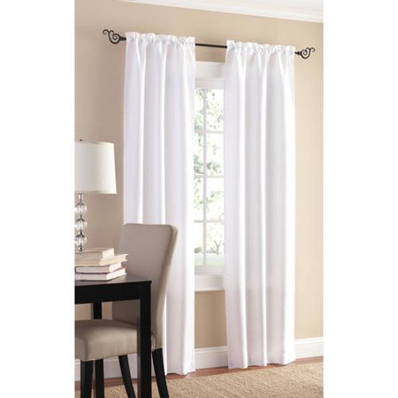 Mainstays 2 Pack Sailcloth Rod Pocket Curtain Panel Pair