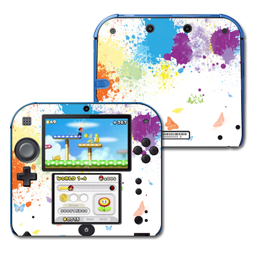 Mightyskins Protective Vinyl Skin Decal Cover for Nintendo 2DS wrap sticker skins Splash Of Color