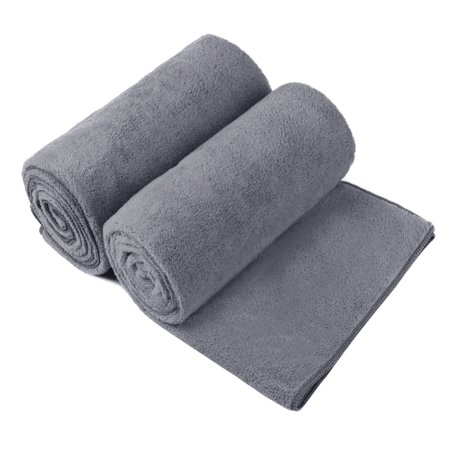 2-Piece High Density Fleece Bath Towel Set,350GSM Extra Absorbent&Quick Drying Soft 30