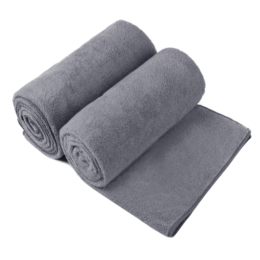 2-Piece High Density Fleece Bath Towel Set