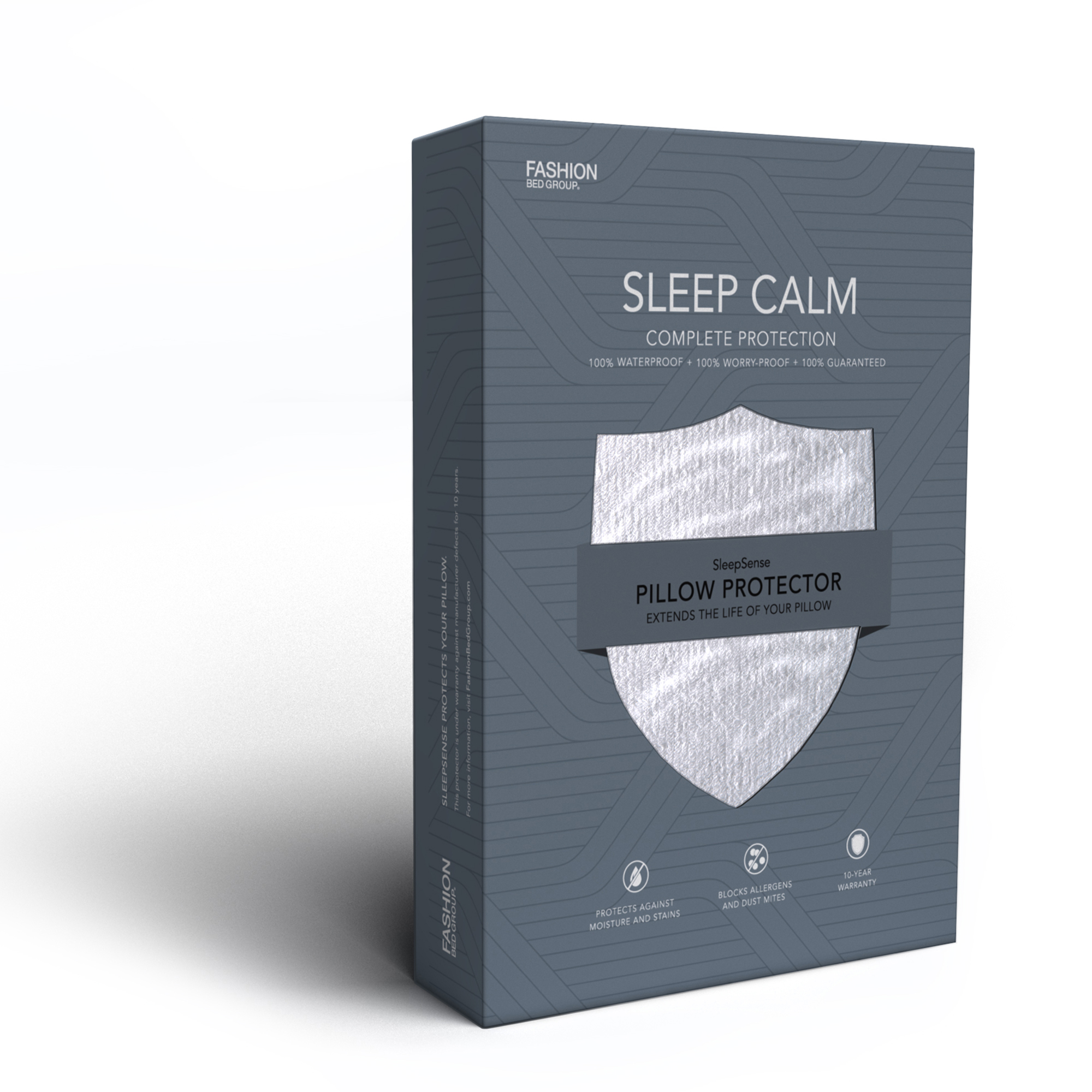 Sleep Calm Pillow Protector with Stain and Dust Mite Defense, King by Fashion Bed Group