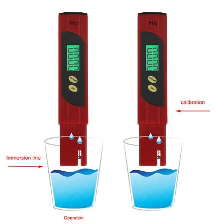 Glass Electrode Ph Meter - Portable High Precision Pen Type PH Meter Multimeter Tester Hydro