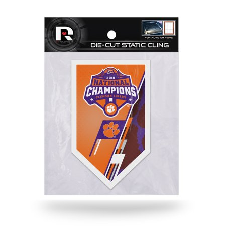Clemson Tigers Sparo College Football Playoff 2018 National Champions Die-Cut Static Cling - No Size 2007 Playoff National Treasures