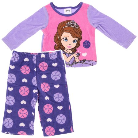 d55661d79 Sofia the First Lavender Fleece Little Girls Pajamas - Walmart.com