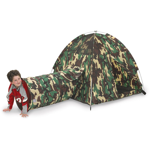 Pacific Play Tents Command HQ Tent and Tunnel Combo