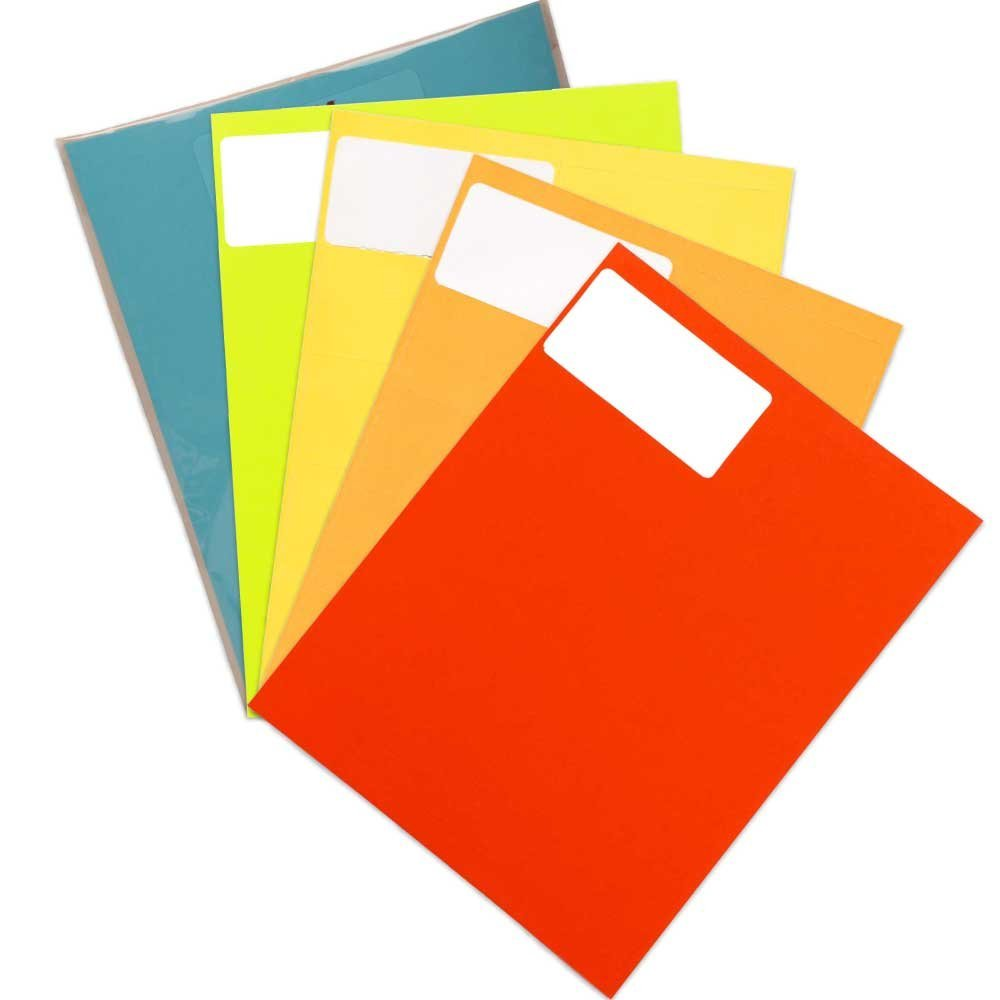"JAM Paper Mailing Address Labels, Small, 2"" x 4""- Assorted Bright Colors, 600/pack"