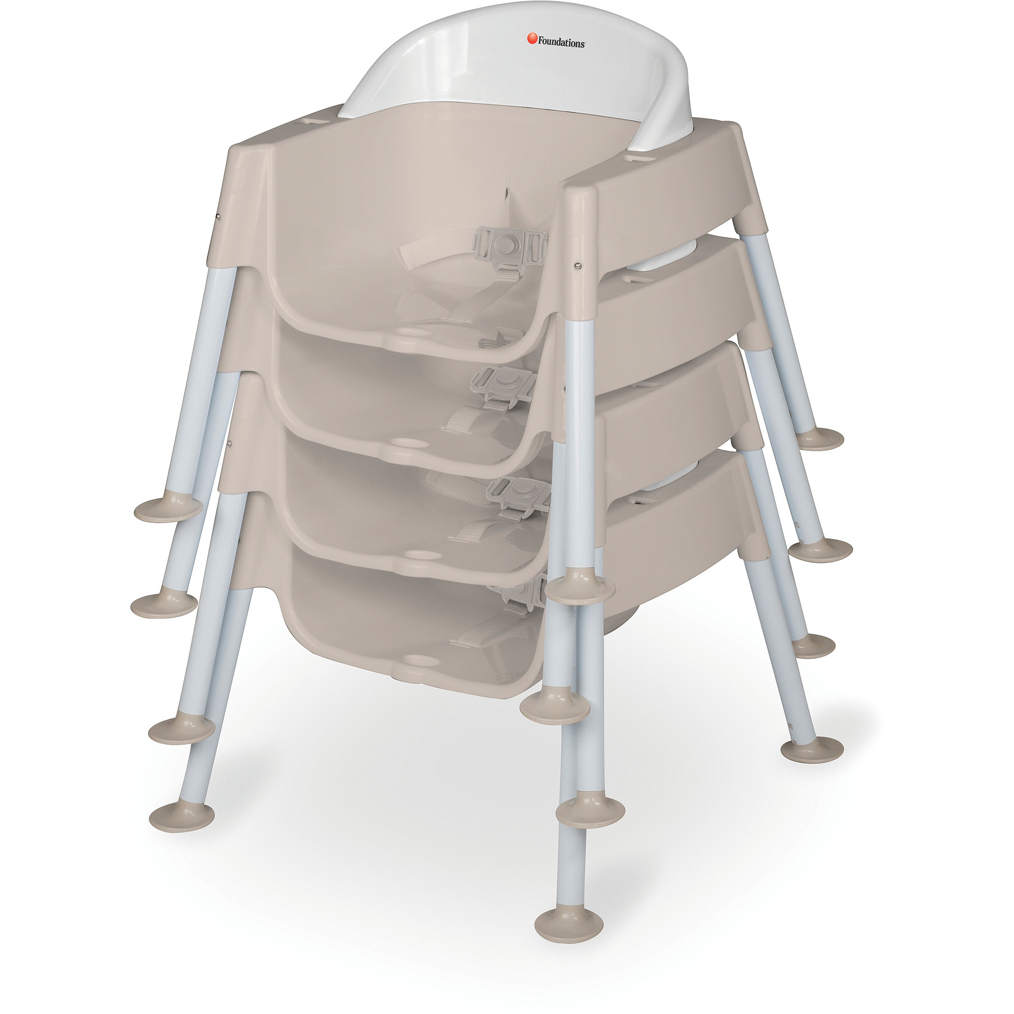 """Foundations Secure Sitter Tip and Slip Proof Feeding Chair with 9"""" Seat Height"""