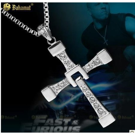 Aqua Titanium Necklace - Big size Fast and Furious 6 Dominic Toretto's Cross Necklace Pendant Vin Diesel Titanium Steel Necklace Men\s Jewelry, Fine or Fashion:.., By Baham