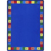 Joy Carpets 1790C Kid Essentials Primarily Alphabett Early Childhood Rectangle Rugs, Multi Color - 5 ft. 4 in. x 7 ft. 8 in.