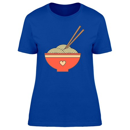 Cute Bowl With Noodles Cartoon Tee Women's -Image by Shutterstock