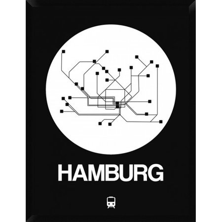 Hamburg Subway Map.Naxart Hamburg White Subway Map Framed Graphic Art Print On Canvas