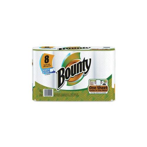 PROCTER & GAMBLE COMMERCIAL Bounty Selecta-A-Size Towels, 8/PK, White
