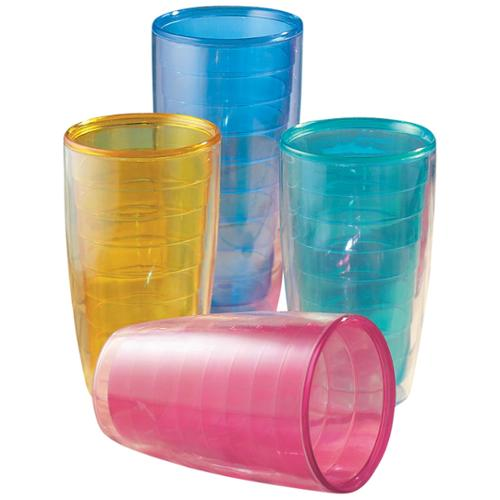 Miles Kimball 12 oz  Insulated Tumblers Set of 4