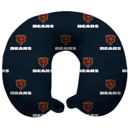 Chicago Bears Polyester-Fill Travel Pillow - No -