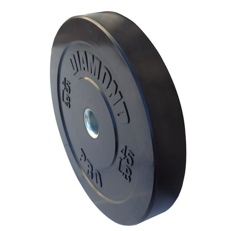 Diamond Pro - Black Bumper Plate, 35-55 lbs, Single