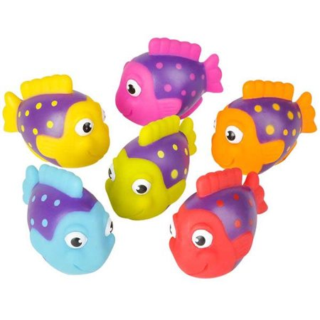 Rubber Fish (Rhode Island Novelty - Rubber Bath Toys - TROPICAL FISH (Set of 6)