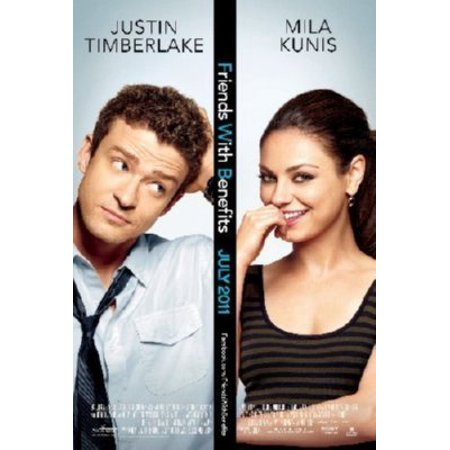 Ships Rolled Friends With Benefits Mini Movie Poster 11x17 Kunis Timberlake with mail/gift