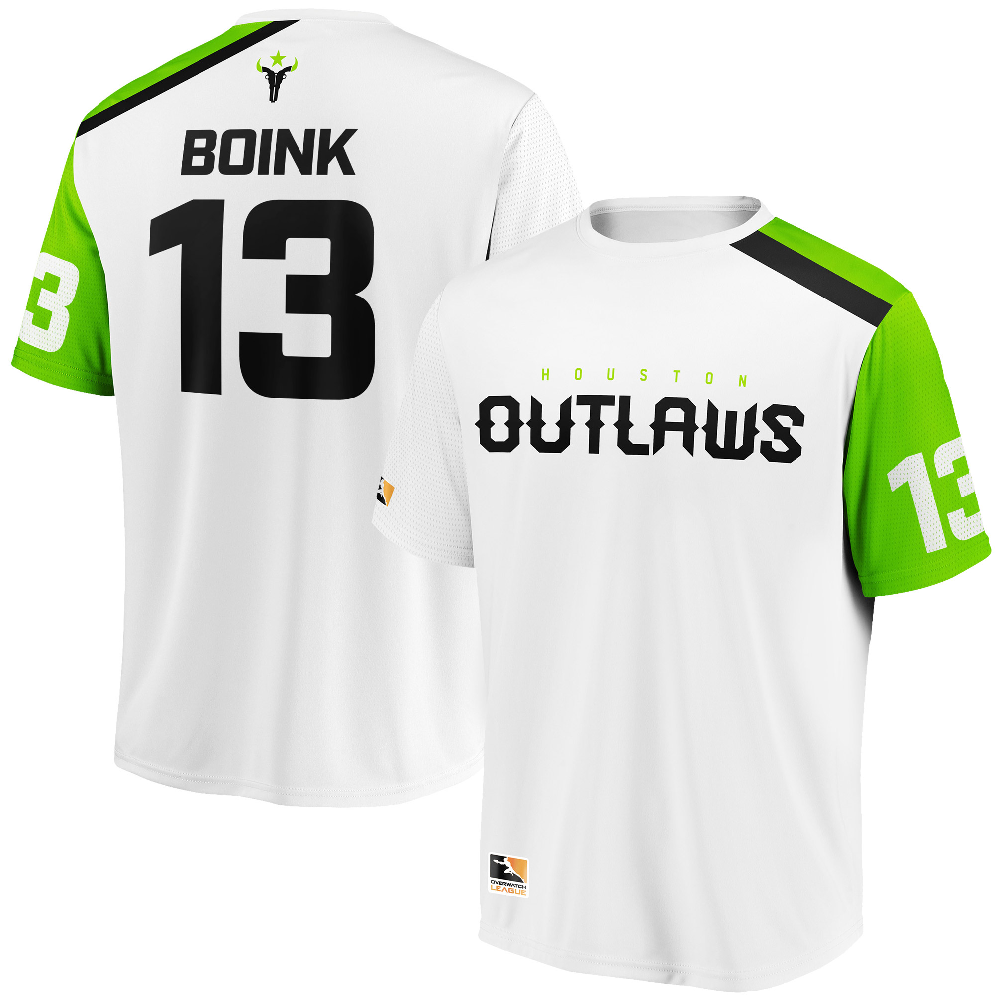 Boink Houston Outlaws Overwatch League Replica Away Jersey - White