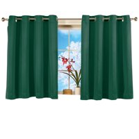 Short Blackout Window Curtain Panel, Energy-Efficient, Noise-Reducing And Light-Blocking Triple-Layer Technology, Grommet Top