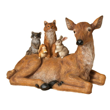 Resin Doe and Woodland Friends Figurine