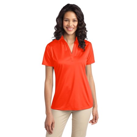 Port Authority® Ladies Silk Touch™ Performance Polo. L540 Neon Orange Xl - image 1 of 1