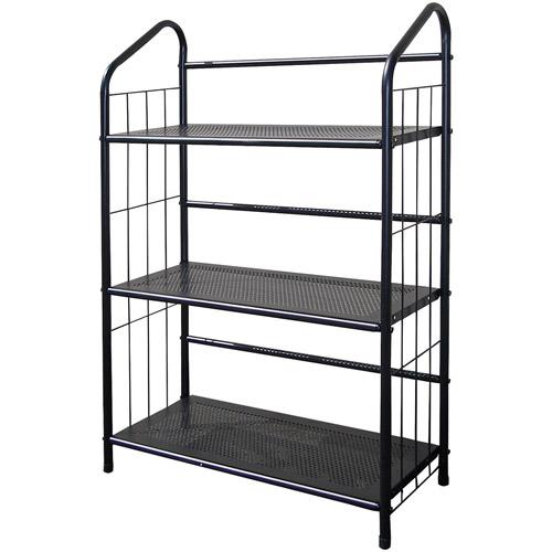 3 Tier Metal Book Shelf, Black