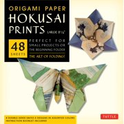 "Origami Paper - Hokusai Prints - Large 8 1/4"" - 48 Sheets : Tuttle Origami Paper: High-Quality Origami Sheets Printed with 8 Different Designs: Instructions for 6 Projects Included"