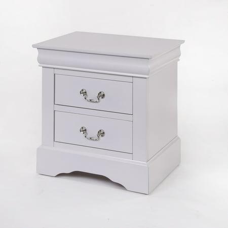 Acme Furniture Louis Phillipe III 2-Drawer Nightstand, White