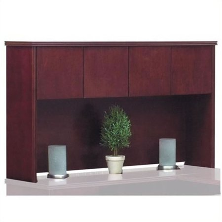 "Offices to Go 66"" Overhead Hutch with Doors-66"" wide in American Cherry"