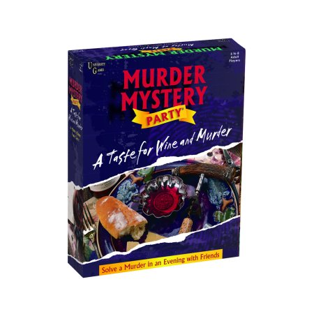 A Taste For Wine & Murder Murder Mystery Party - Halloween Party Mystery Games