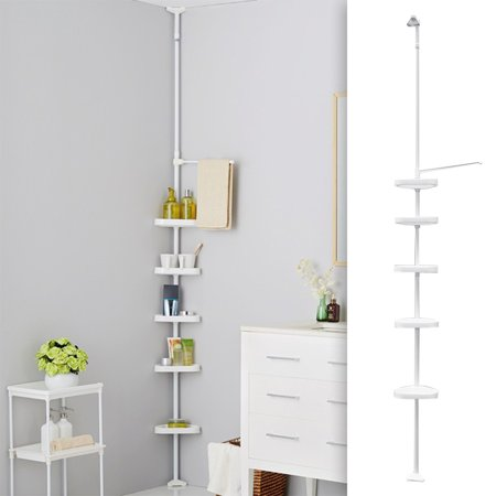 5 Layers Space Saving Shower Corner Shelf Bathroom Storage Rack ...