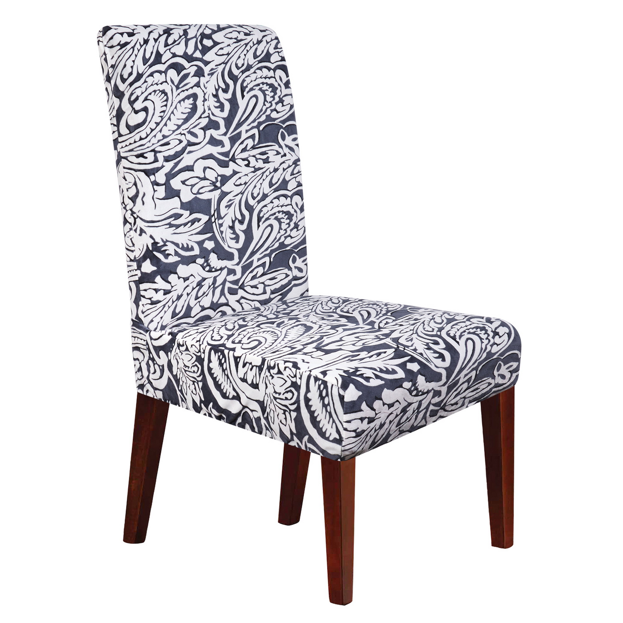 Chair Slipcovers for Dining Room Soft Spandex Stretch Removable Washable Banquet Home Party Hotel Wedding Seat Stool Protector Short Dining Room Chair Covers(GY3)