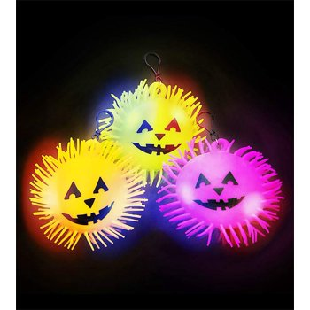 Lumistick Light-Up Halloween Puffer Ball with Clips