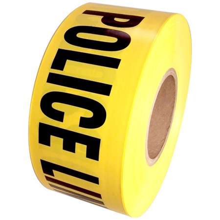 Barricade Tape Police Line Do Not Cross Yellow 3 inch x 1000 ft Non Adhesive 3 mil