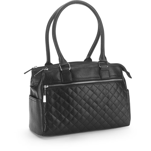 George Womens Zipper Detail Satchel