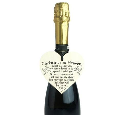 100mm Wooden Hanging Gift Plaque Pendant Heart Shape Friendship Wine Bottle Decor Pendant Tags LOVE Wood Chip - image 6 de 6