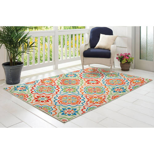 Better Homes And Gardens Nbsp Bright Floral Nbsp Indoor Outdoor Rug