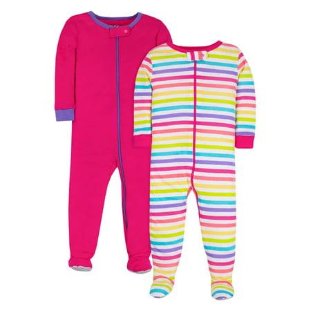 Pure Organic True Brights Footed Stretchie Pajamas, Sleepwear (Baby Girls & Toddler Girls)