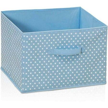 Pink Fabric Storage Bins (Furinno Laci Dot Design Non-Woven Fabric Soft Storage Organizer,)